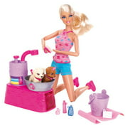 Barbie Doll Suds And Hugs Bath Time Puppy Play Set
