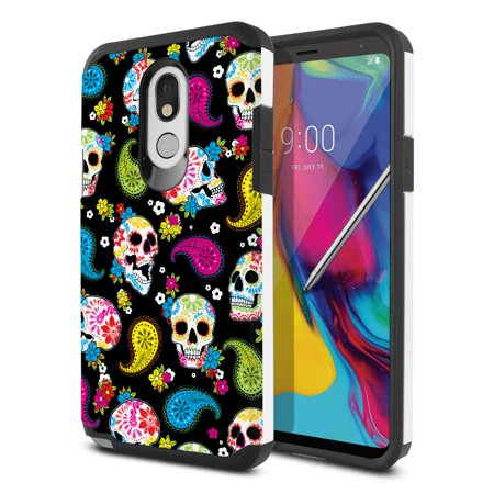 FINCIBO Hybrid Case Hard Plastic TPU Slim Back Cover for LG Stylo 5 Q720 6.2