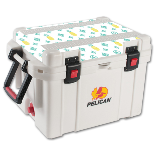MightySkins Protective Vinyl Skin Decal for Pelican 35 qt Cooler Lid wrap cover sticker skins