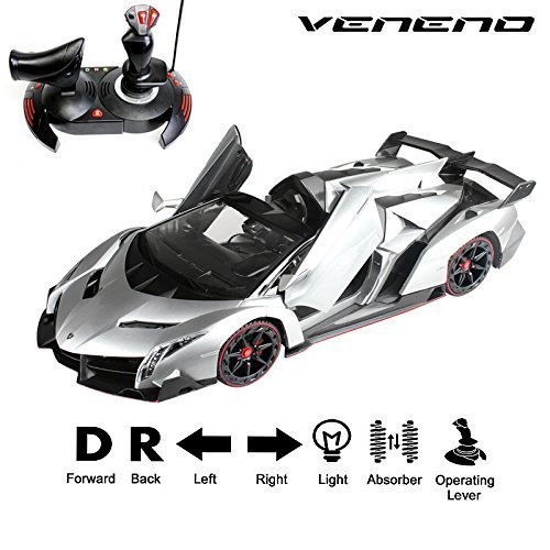 NEW Lamborghini Veneno Roadster 1:14 Scale, Gravity Sensor/Radio Control RC Vehicle Model Car Auto Open Door