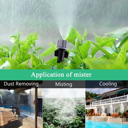82ft 25M Hose +Micro Drip Sprinkler Irrigation System Water Flow Home Garden Kit Patio Outdoor DIY Plant Self Watering Misting Cooling Tool Plastic 30 Mist Nozzles Sprinkle Bubble ()