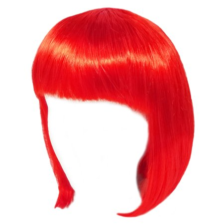 Red Wig Bob (SeasonsTrading Economy Red Bob Wig - Adult Teen Costume Cosplay Party)