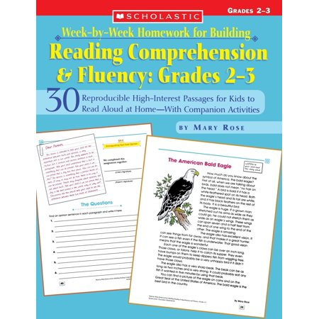 Week-By-Week Homework for Building Reading Comprehension & Fluency: Grades 2-3 : 30 Reproducible High-Interest Passages for Kids to Read Aloud at Home--With Companion