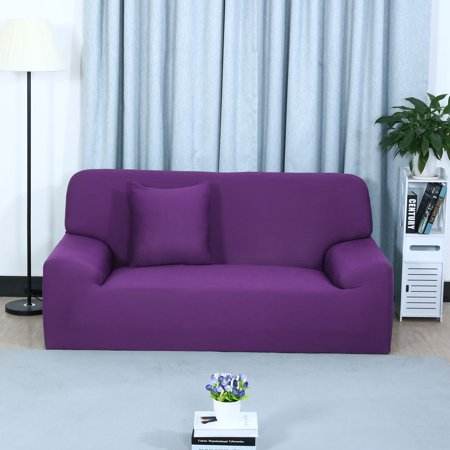 Astounding Stretch Chair Sofa Covers Couch Slipcover Purple Sofa 3Seater 76 90 Gmtry Best Dining Table And Chair Ideas Images Gmtryco