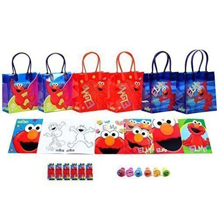 sesame street elmo party favor set - 6 packs (42 pcs) by goodyplus](Sesame Street Party Bags)