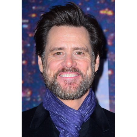 Jim Carrey At Arrivals For Saturday Night Live Snl 40Th Anniversary Rockefeller Plaza New York Ny February 15 2015 Photo By Gregorio T BinuyaEverett Collection Photo Print