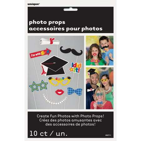 Graduation Photo Booth Props, 10pc - New Photo Booth Ideas