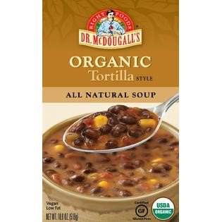 Dr. McDougall's Right Foods Organic Soup, Tortilla, 18 Ounce - Organic Tortilla Soup