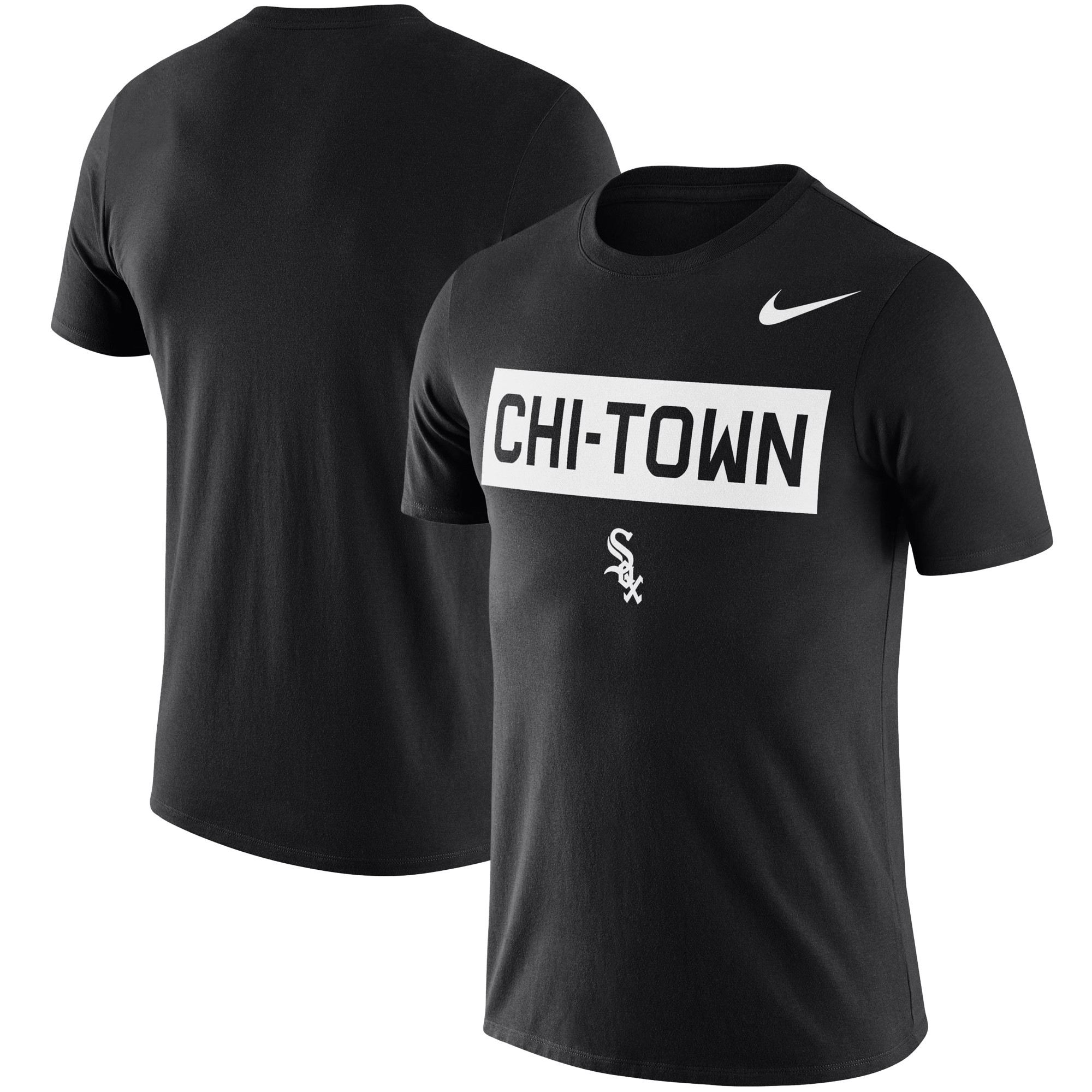 Chicago White Sox Nike Local Phrase Performance T-Shirt - Black