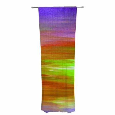 East Urban Home Ebi Emporium Bright Horizons 5 Painting Decorative Abstract Sheer Rod Pocket Curtain Panels  Set Of 2