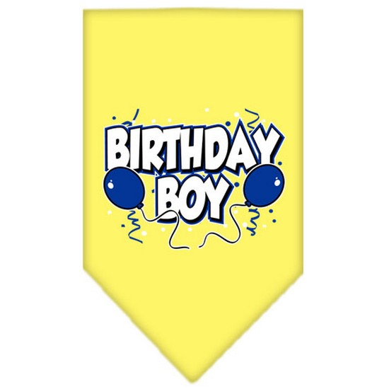 Mirage 66-05 LGOR Birthday Boy Screen Print Pet Bandana Orange Large