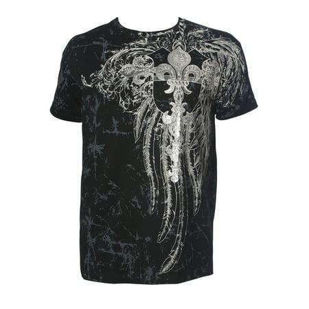 Konflic Mens Giant Tribal Cross Mma Muscle T Shirt