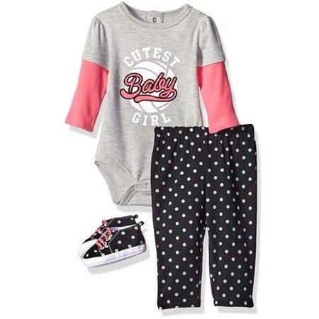 a80c13b4bc Bon Bebe - Bon Bebe Girls 0-9 Months Baby Shoe Pant Set - Walmart.com