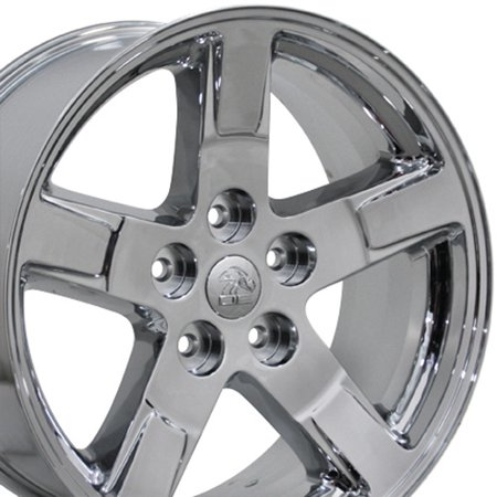 OE Wheels 20 Inch RAM Style - Fits Chrysler Aspen, Dodge Dakota, Durango, Ram 1500 - DG62 Chrome 20x9 Rim Hollander 2364