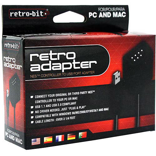 RETRO-BIT NES to PC USB Adapter, 3.25' (NES)