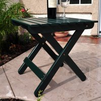 Shine Company Adirondack Square Folding Table - Dark Green