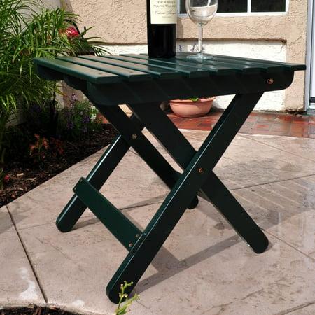 Shine Company Adirondack Square Folding Table - Dark (Adirondack Rectangular Table)