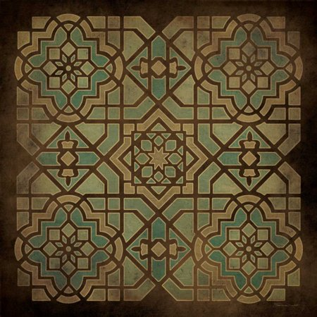 Tile Design II Stretched Canvas - Stephanie Marrott (24 x 24)