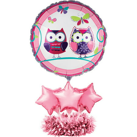 Creative Converting Owl Pal Birthday Balloon Paper Disposable Centerpiece Kit](Owl Centerpieces)