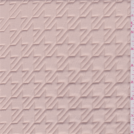 Pink beige quilted knit fabric sold by the yard for Fabric sold by the yard