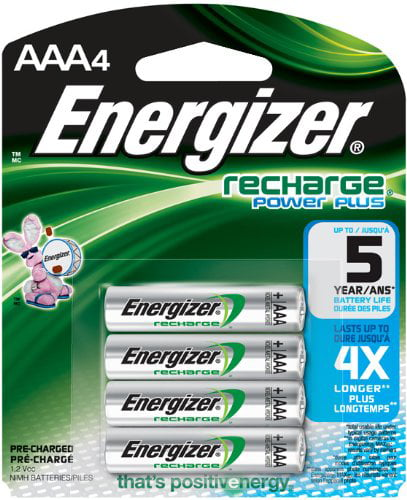 Energizer AAA Rechargeable Batteries 4 Pack by