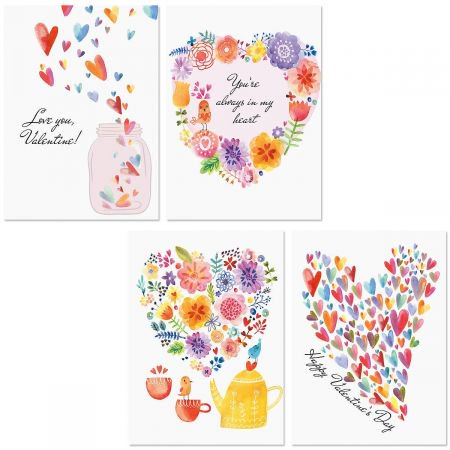Paintbox Valentine Cards](Valentine's Day Class Party Ideas)