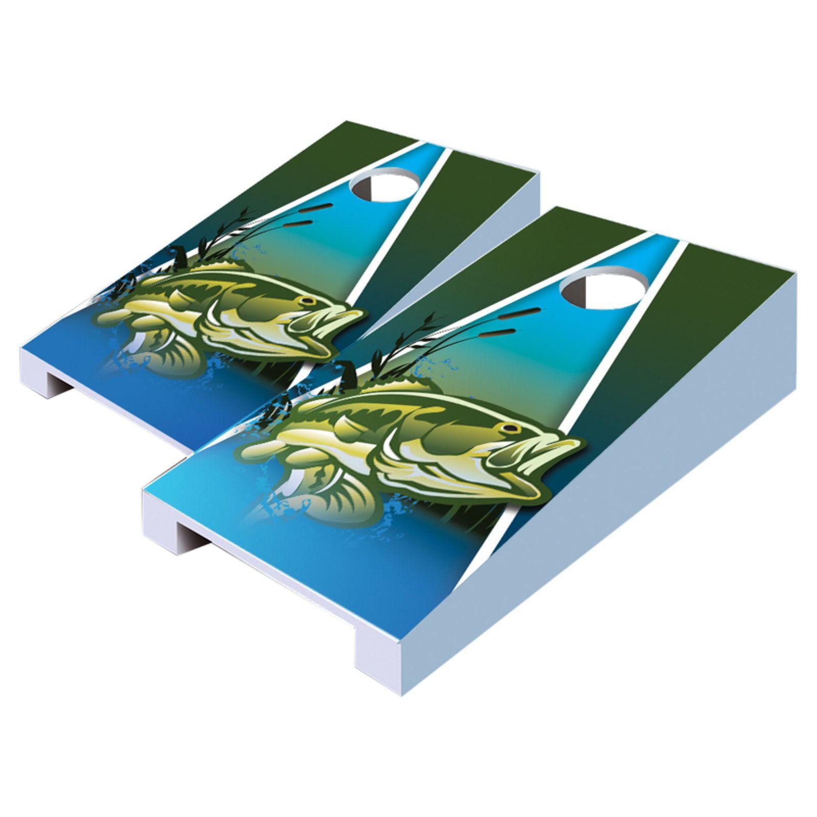 Fish Tabletop Cornhole Set by AJJ Cornhole