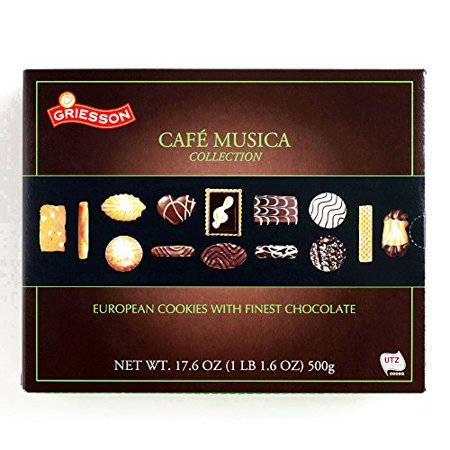 Christmas Gift Boxes For Cookies (European Chocolate Cookies Box (1 Unit Per Order) - Gourmet Christmas Gift for the)