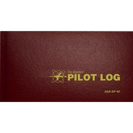 Standard Pilot Logbooks: The Standard Pilot Log (Burgundy) (Hardcover)