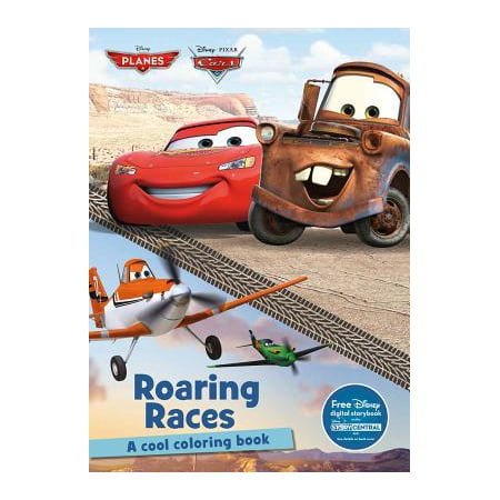 Disney Planes & Disney Pixar Cars Roaring Races : A Cool Coloring Book - Middle School Halloween Coloring Pages