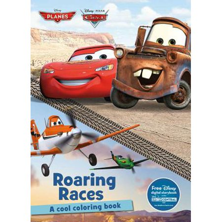 Disney Planes & Disney Pixar Cars Roaring Races : A Cool Coloring Book - Disney Pixar Cars Hank Halloween Murphy