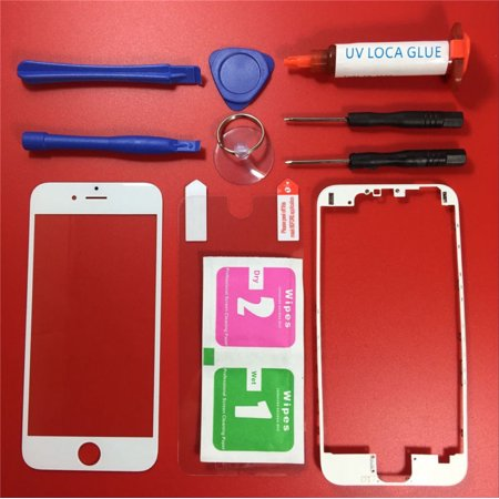 Lcd Front Glass - Repair Outer LCD Front Screen Glass Lens LOCA Glue Replacement for iPhone 6 4.7
