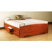 Prepac Edenvale Queen Platform Storage Bed Cherry
