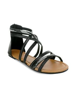 04ec492f5efa Product Image Olivia Miller  Stuart  Glitter Rhinestone Criss Cross Strap  Sandals