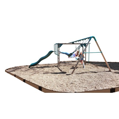 Frame It All Uptown Brown Curved Playground Border 16' - 1