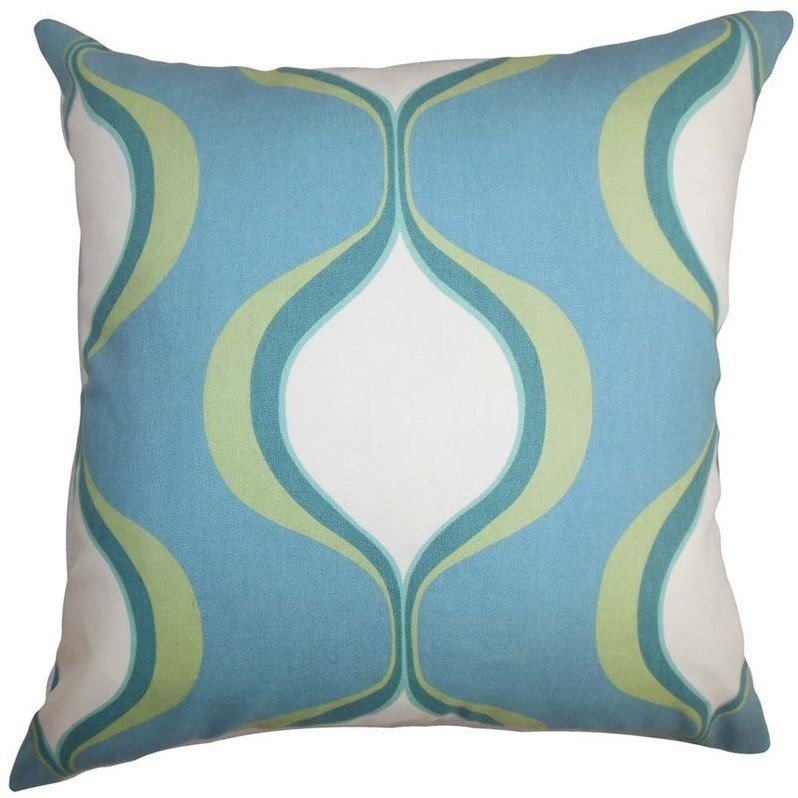 "The Pillow Collection 20"" Square Odelia Geometric Throw Pillow"