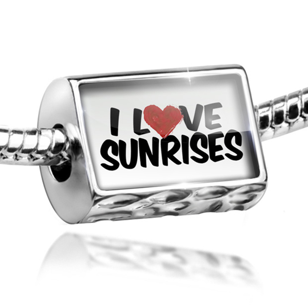 Bead I Love Sunrises Charm Fits All European Bracelets