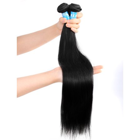 Unique Bargains Straight Human Hair Extension 12