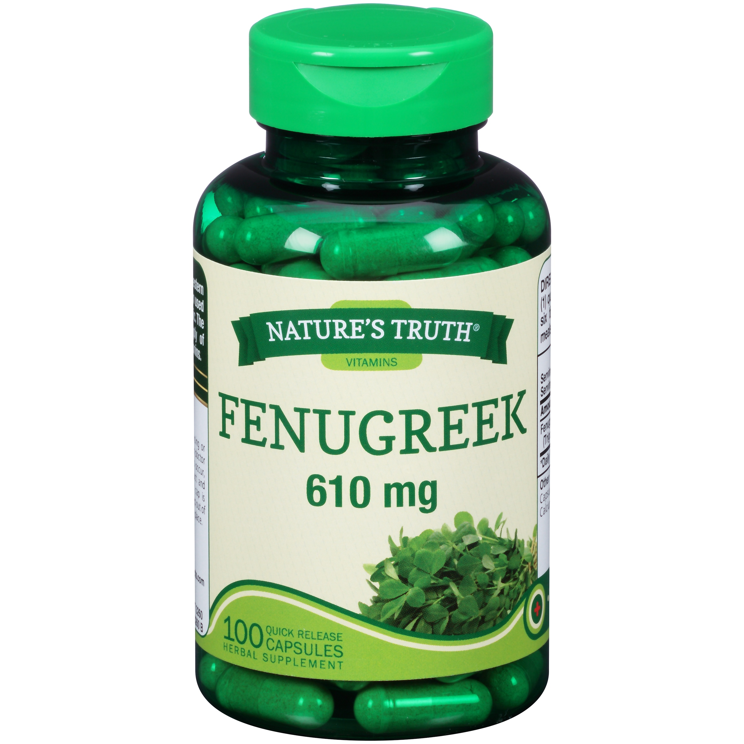Nature's Truth® Fenugreek 610mg Herbal Supplement Quick Release Capsules 100 ct Bottle