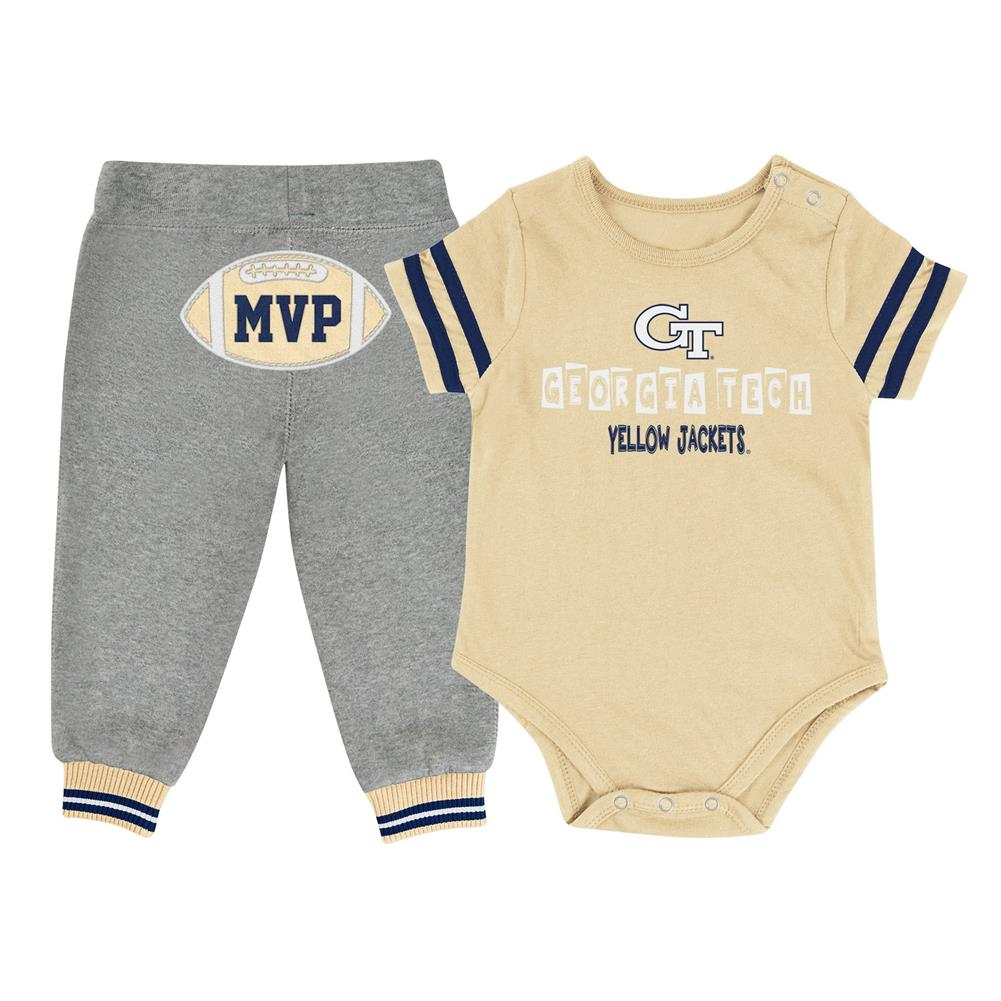Infant MVP Georgia Tech GT Baby Bodysuit and Pant Set by Colosseum