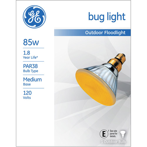 GE 85-Watt PAR 38 Bug Light Floodlight, 1-Pack
