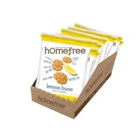 Homefree Gluten Free Lemon Burst Mini Cookies Grab & Go Boxes Single Serve 1 Oz. Bags, 1 Each (10 Pack)