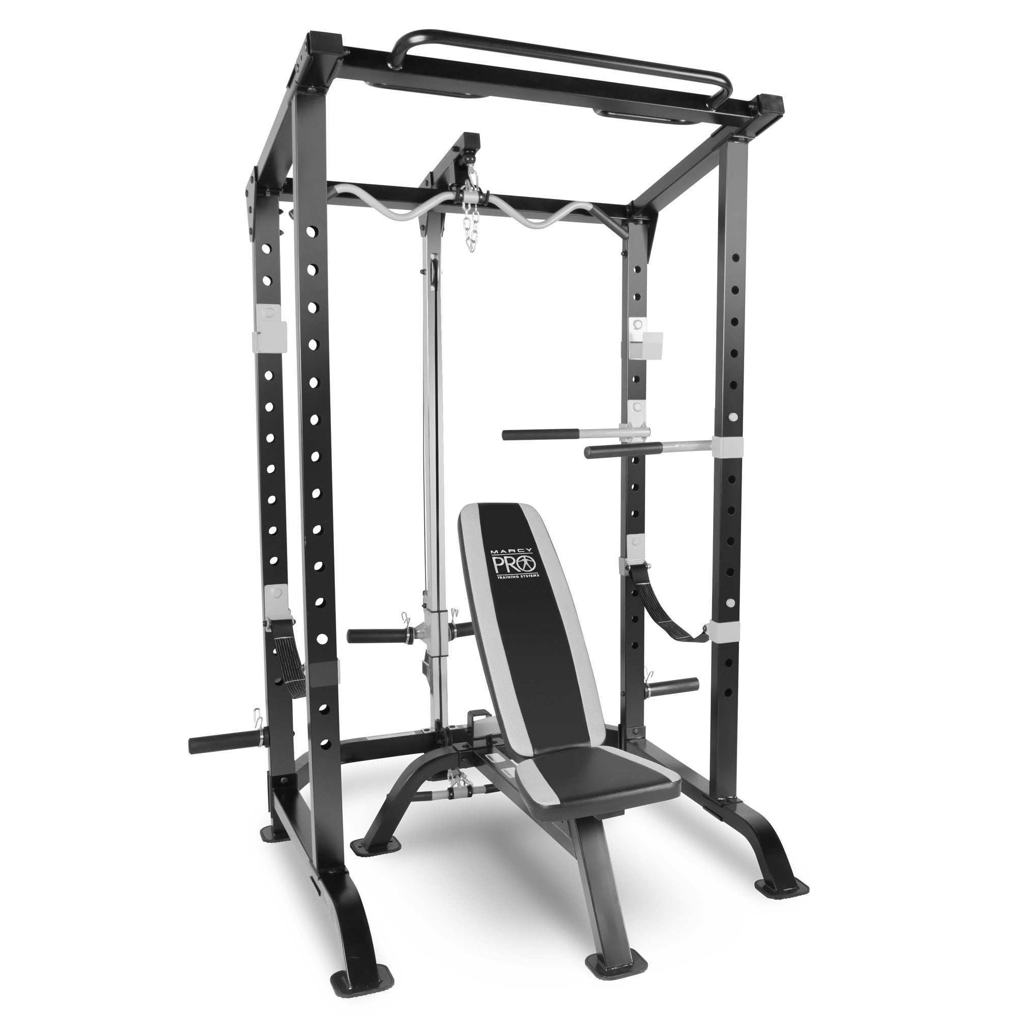 Marcy Pro Full Cage And Weight Bench Personal Home Gym Total Body Free Weights Gfid71 Workout System