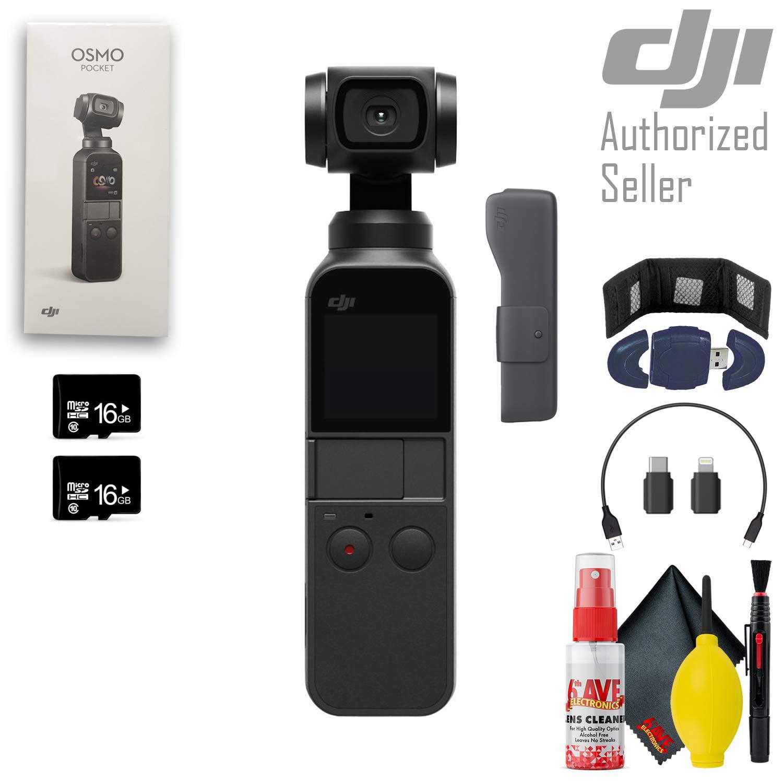 dji osmo pocket gimbal camera memory card wallet usb reader 16gb microsd card x2 cleaning kit and more