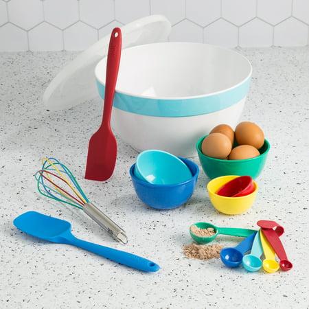 Tasty 15 Piece Baking Kitchen Gadget Set with Large Mixing Bowl