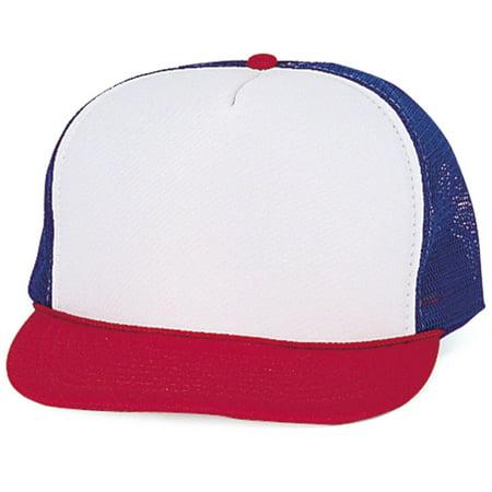 Classic Trucker Baseball Hats Caps Foam Mesh Blank Solid Two Tone Snapback Adult (Kleenguard G40 Purple Nitrile Foam)