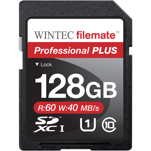 Wintec Filemate Professional Plus 128GB SDXC UHS-1 Memory Card Class 10