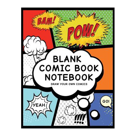 Blank Comic Book Notebook: Create Your Own Comic Book Strip, Variety of Templates for Comic Book Drawing, (Super Hero Comics)-[professional Bindi (Paperback)