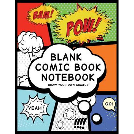 Blank Comic Book Notebook: Create Your Own Comic Book Strip, Variety of Templates for Comic Book Drawing, (Super Hero Comics)-[professional Bindi
