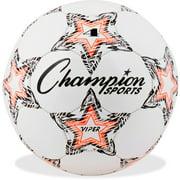 Champion Sports Viper Soccer Ball, Size 4, Black, Orange and White